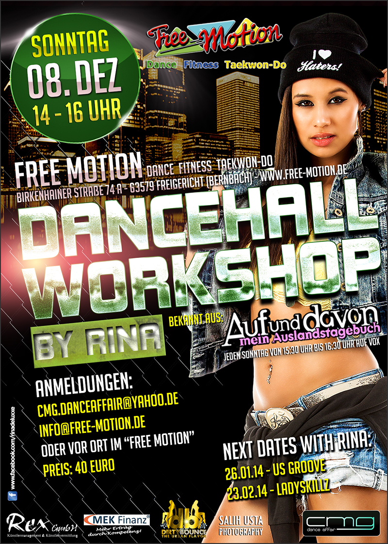 DANCEHALL Workshop mit Rina De Luxxe 8.12.13